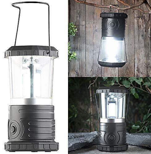 Lunartec LED Campingleuchte: Dimmbare Camping-Laterne mit COB-LEDs, 750 Lumen, 9 Watt, IP44 (Lampe Camping)