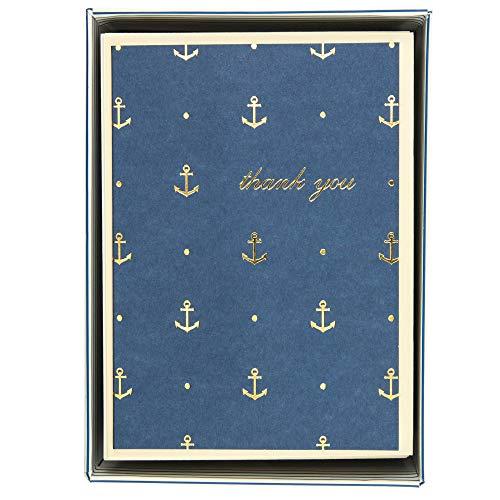 Boxed Notes: Gold Anchors – Gruß- und Geschenkkartenbox mit Kuverts: Goldene Anker: 10 Gruß- und Geschenkkarten mit passenden Umschlägen