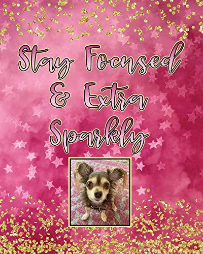 Stay Focused and Extra Sparkly: Pawlicious Poochie Pet Rescue Pink Edition Composition Notebook