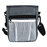 YAOSEN Pet Dog Treat Pouch Training Bag Walking Waist Bag with Belt Clip (Grey)