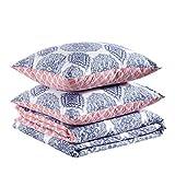 Amazon Basics - Juego de funda nórdica 100% algodón supersuave - 140 x 200 cm / 65 x 65 cm, Medallón