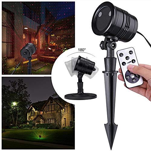 monzana LED Projektor Projektionslampe I I In-/Outdoor I inkl Fernbedienung I Motivwahl
