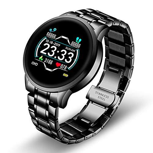 Reloj Inteligente Ratio Cardíaco para Hombres Y Información sobre La Presión Arterial Recordatorio De Recordatorio Deportivo Resistente Al Agua Reloj Inteligente,A