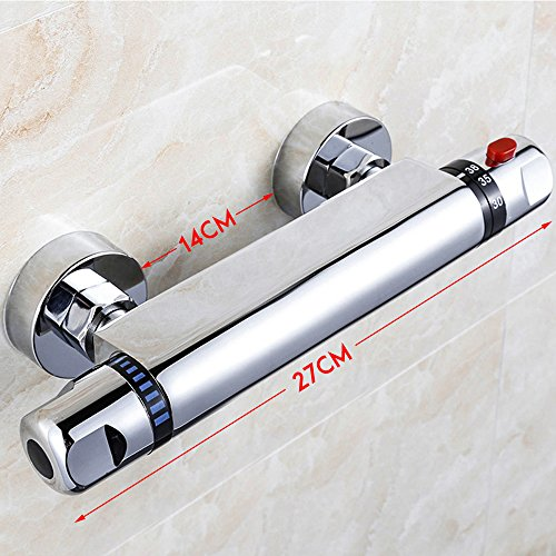 Interlink Duschthermostat thermostat Duscharmatur Mischbatterie Brausethermostat Thermostatventil Dusche - 2