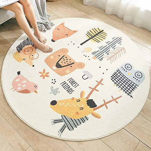 SDINAZ Bereich Teppiche Kinderteppiche Flauschige Runden Groß Schutzmatten Waschbare Matten Kindermatte fürs Babyzimmer Kleinkinderzimmer Wohnzimmer