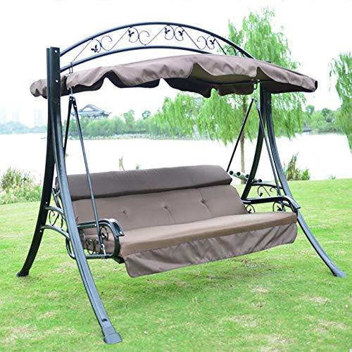 Preisvergleich Produktbild ZDYLM-Y Hollywoodschaukel Gartenschaukel 3 Seater-Schaukelsitz mit Baldachin Heavy Duty Außen Schaukel Stuhl,  für Terrasse im Freien Garten-Seater