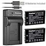 Kastar Battery (X2) & Slim USB Charger for Kodak KLIC-5001 and Easyshare P712 P850 P880 Z730 Z760 Z7590 DX6490 DX7440 DX7590 DX7630 Sanyo DB-L50 DMX-WH1 HD1010 FH11 HD2000 VPC-WH1 HD2000 HD1010 HD1000