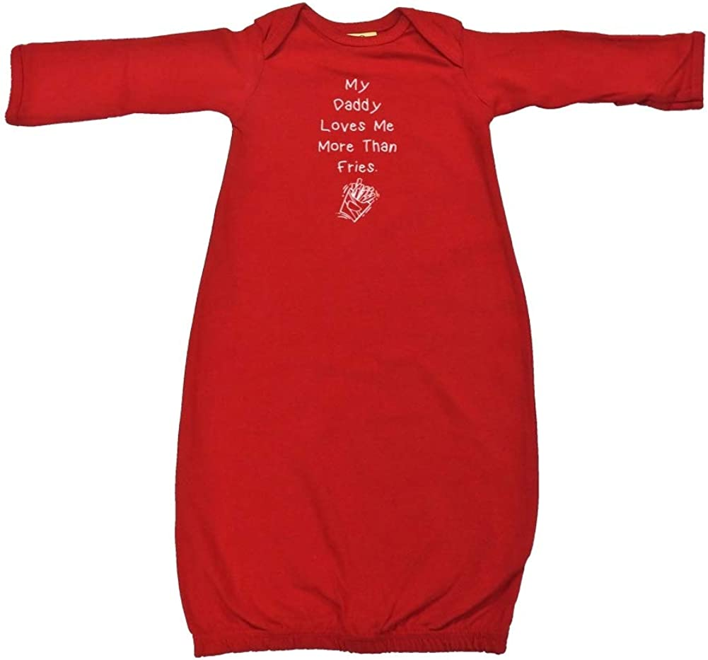 My Daddy Loves Limited price Me More Than Sleeper Cotton Fries Baby Gown Max 71% OFF -