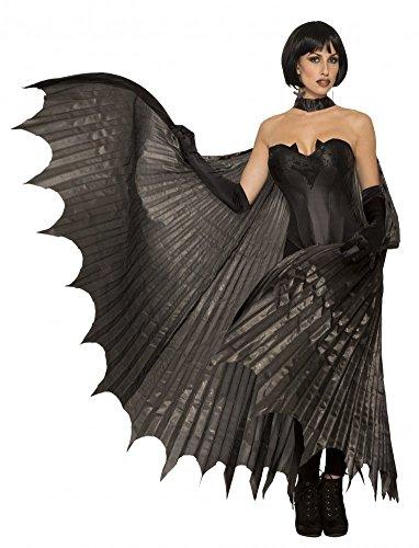 Costume da pistrello con ali nere per Halloween, costume da vampiro, accessorio da donna