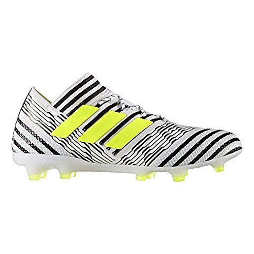 adidas Nemeziz 17.1 FG Cleat - Men's Soccer 10.5 White/Solar Yellow/Core Black