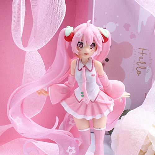 cheaaff Anime Hatsune Miku Rose Sakura Miku PVC Figuren füllt modèle jouets 14CM