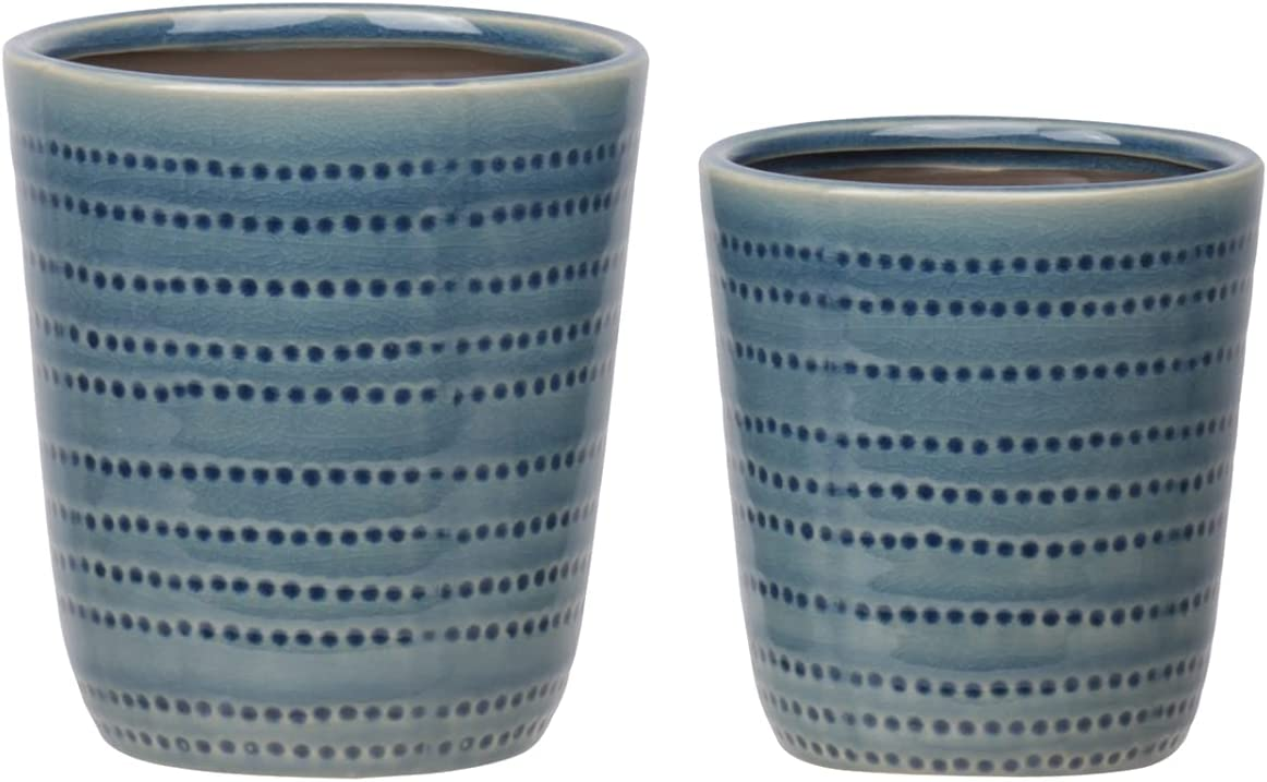 Urban Trends Collection 11453 Ceramic Pot Patt with At the price Price reduction Dotted Round