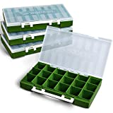 Rodeel 4Pcs/ Set 3600 Tackle Boxes for Saltwater Freshwater Fishing, for Storage and Organization of Fishing Accessories, Terminal Tackle, Artificial Baits, Lures, Jigs, Beads, Hooks