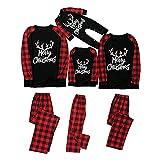 Alueeu Pijamas Navidad para Familias Moon Invierno Otoño Ropa de Dormir Manga Larga Homewear Pijamas Navidenos Unisex riou
