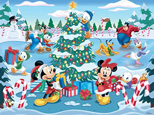 Ceaco Disney Together Time Christmas at The Skating Pond Jigsaw Puzzle, 400 Pieces (2320-5)