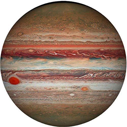Oulian Rompecabezas Redondo para Adultos1000 Piezas - Jupiter Planet Puzzle- Space Planet Difícil Rompecabezas Juguetes Brain Challenge Puzzle Descompresión Juguete para Niños (67.6X67.6 cm)
