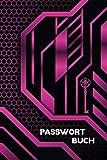Passwort Buch: Passwort Taschenbuch und Organizer für Internet-Konten; Platz für 4 Konten pro Seite; ca. A5, 6 x 9 Inch (15.24 x 22.86 cm); 120 weisse Seiten, Softcover mit glänzender Veredelung