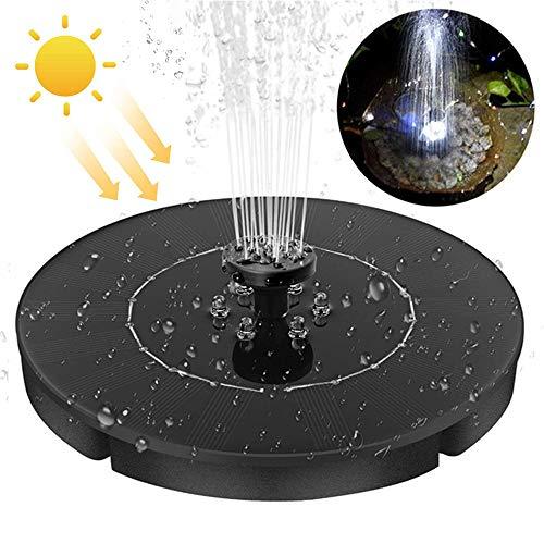 RUIXFAP Leise Solar Springbrunnen 2.5W, Mit 4 Effekte, LED Schwimmen Solarbrunnen Wasserdicht für Teiche, Garten, Wasserwerk, Mit Batterie-Backup Hohe Qualität
