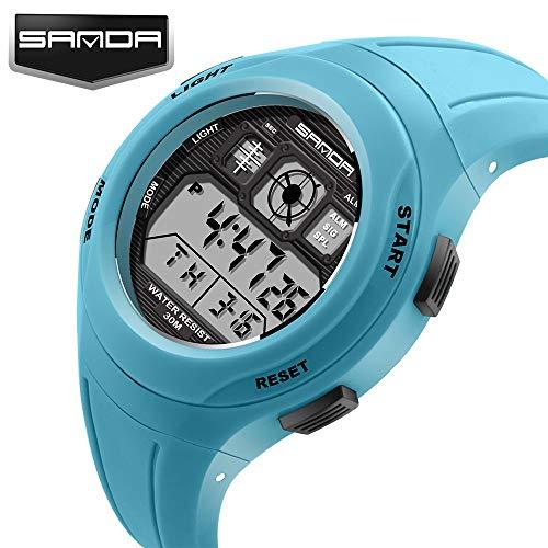 SJXIN Coole stilvolle Sanda-Uhr, Sanda Multifunktionssport leuchtende elektronische Uhr Mode Uhr wasserdicht Sportuhren (Color : 2)