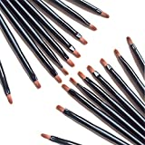 100 Pieces Disposable Lip Brushes Multifunctional Beauty Makeup Brush Lipstick Gloss Eyeshadow Applicator Smudge Cosmetic Tool Set