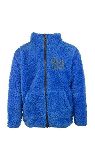 lupilu® Jungen Coole Teddy Fleecejacke Kuschelig Warm hoher Blau 110/116