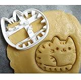 Cortador de galletas para repostería, gato, compatible con lavavajillas y mini brazo.