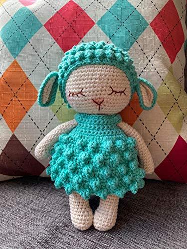 Baby Sheep Handmade Crocheted sheep Plushie Doll, Amigurumi doll baby doll toddler gifts baby shower gifts Baby nursery decor