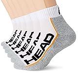 Head Performance Quarter Socks Multipack Calzini, Bianco/Grigio, 39-42 Unisex-Adulto