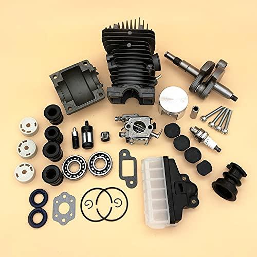 42.5MM Motosierra piezas Motor Asamblea Cilindro Pistón Carburador AV Buffer para Stihl MS250 MS230 025 023 MS 250 230 repuestos