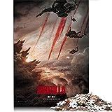 Godzilla 1000 piezas de rompecabezas de regalo para adultos película de monstruos de ciencia ficción 1000 piezas de rompecabezas para adultos adolescentes juguetes de bricolaje de 29.5 x 19.6 pulgadas