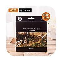 水色鉛筆24-72色フルボックス卸売紙箱メタルボックスギフトセット水色鉛筆-48 colors-paper-box-