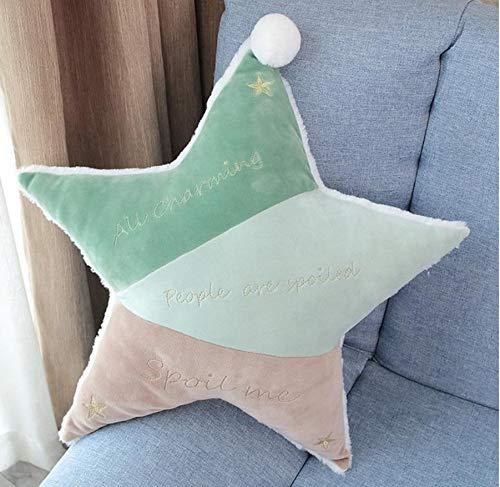 WYBL Lovely Sleep Pillow Nouveau-né Oreillers de Protection de Soins pour bébé s'oreillers Cinq Pointes Star Pillow Vert 25cm