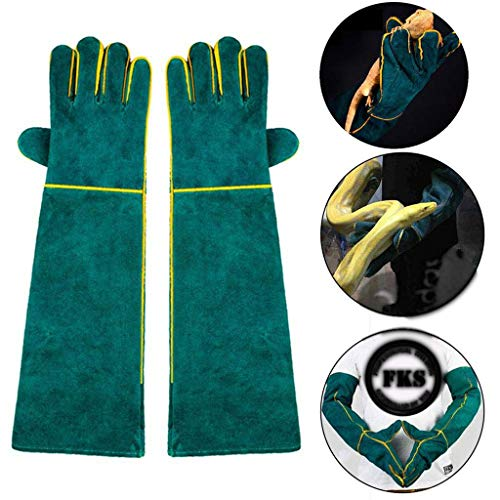 Bisstier Handhabung Handschuhe Proof, Durable Bissschutz-Handschuhe for Baden, Pflegen, Handhabung Hund/Katze/Vogel/Schlange/Papagei/Lizard Lucky