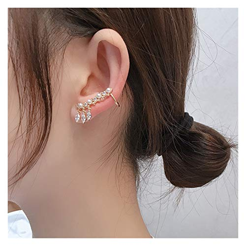 Without logo ZCPCS 2020 New Angel wings Rhinestone Hanging Dangle exquisite Exaggerated Fashion Stud Earrings elegant Prevent Allergy Earrings (Metal Color : Single)