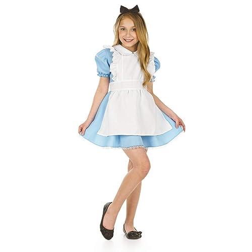 324b6ab1e Fun Shack Child Traditional Alice Costume - AGE 10 - 12 YRS (XL)