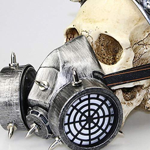 Amosfun Steampunk Gas Masker Retro Rubber Steampunk Masker Gogggles Halloween Kostuum Cosplay Accessoires M Picture 2