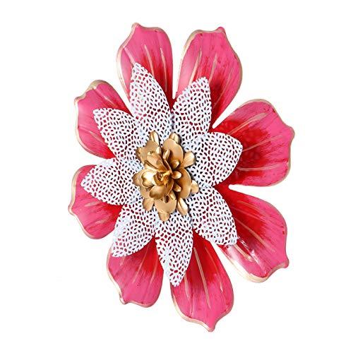 BESPORTBLE Decoración de Pared de Flores de Metal Arte de Pared de Loto Grande Esculturas de Pared Inspiradoras de Hierro Adorno para Jardín de Oficina de Dormitorio Interior Exterior
