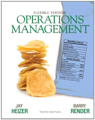 Compare Textbook Prices for Operations Management Flexible Version 10 Edition ISBN 9780132163927 by Heizer, Jay,Render, Barry