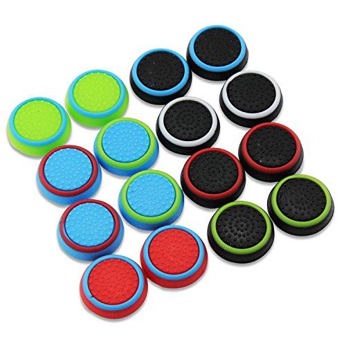 Aussel tappi di protezione in silicone per manopola controller di PS4PS3XBOX 360Xbox One,confezione da 8