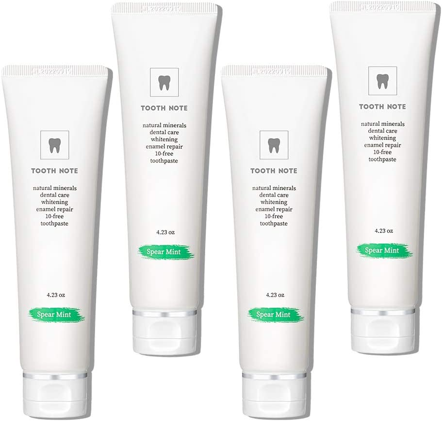 TOOTH NOTE Whitening Toothpaste 4 Mint for Spear 販売期間 限定のお得なタイムセール セール品 White Teeth