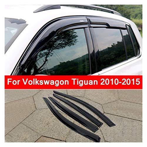 JHDS Derivabrisas para VW para Tiguan 2010-2015 Vent Visor Shade Lluvia Sol Deflectores De Viento Toldos Cubierta Lluvia Visera Deflectora