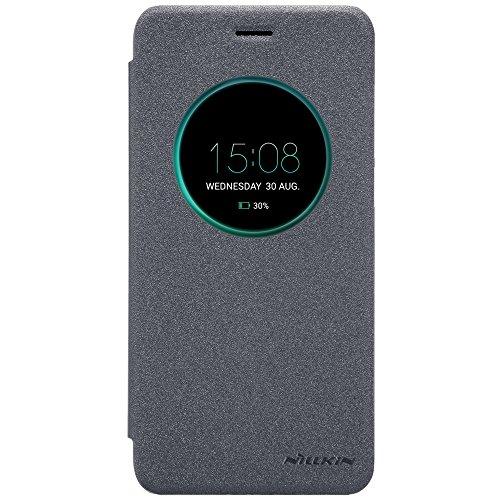 SMTR ASUS ZenFone 4 ZE554KL (5.5') Cover Filp Slim PC Cover Custodia per ASUS ZenFone 4 ZE554KL Smartphone - Nero-Grigio