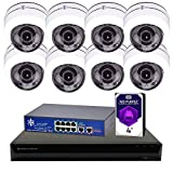 MorphXStar 8CH 4K NVR Network IP Security Camera System - 8 x HD 1944P 5MP 3.05mm~15.5mm 5X Optical Zoom Lens 70ft IR PoE IP PTZ Speed Dome Camera + 4TB Hard Drive + 8 Ports PoE Switch