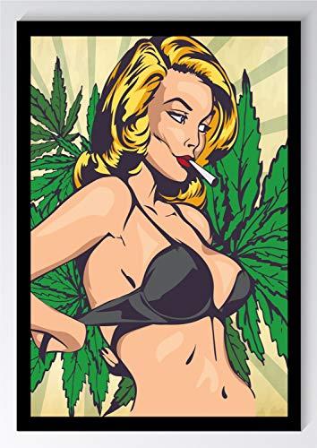 Comic Style Sexy Cannabis Kunstdruck Poster -ungerahmt- Bild DIN A4 A3 K0678 Größe A4