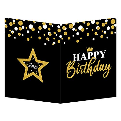 Jumbo Birthday Party Greeting Card Guest Book Happy Birthday Party Decorations Supplies Gifts for Office Women Men Co-Worker