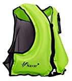 NAXER Inflatable Buoyancy Jackets Vests for Adults Kayak Kayaking Suit 90-220 lbs Easy Swimming Snorkeling Boating Paddleboarding Water Sports