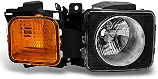For Hummer H3 | H3T Black Amber Passenger Right Side Front Headlight Head Lamp Front Light Replacement