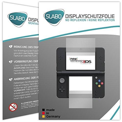 Slabo 2 x Displayschutzfolie kompatibel mit New Nintendo 3DS Displayschutz Schutzfolie Folie No Reflexion | Keine Reflektion MATT