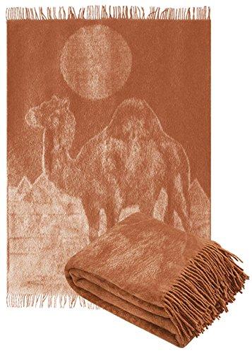 TETI Kamelhaardecke 140 x 200cm Kamel Plaid Blanket Sofadecke Decke Kamelwolldecke
