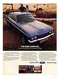 iPosters Ford Capri Blaues Auto Werbung Druck 40 X 30 CMS